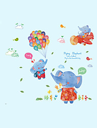 Wall Stickers Wall Decals Style Cute Elephant Balloon PVC Wall Stickers