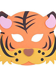 Halloween Masks Animal Mask Toys Tiger Plastic Horror Theme Cartoon 1 Pieces Unisex Carnival Children's Day Masquerade Gift