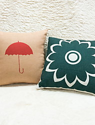 1 pcs Cotton/Linen Pillow Case,Floral Graphic Prints Accent/Decorative Outdoor Modern/Contemporary Country Casual