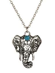 abordables -Mujer Elefante Animal Vintage Bohemio Euramerican Estilo popular Collares con colgantes Legierung Collares con colgantes , Casual