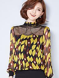 Femme lacet/Epaules Dénudées signent une nouvelle dentelle florale mousseline brodée couture de grande taille petite chemise talonnage chemisiers