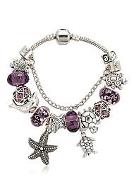 Bracelet Charmes pour Bracelets Cristal Alliage Forme de Fleur Naturel Mode Boîtes et sacs cadeauxMariage Soirée Occasion spéciale