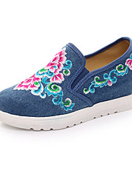 cheap -Women's Flats Comfort Canvas Spring Summer Fall Winter Athletic Casual Outdoor Flat Heel Black Beige Ruby Blue Flat