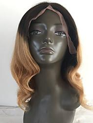 T1B / 4/27 blonde dyb bølge menneskehår parykker limfri blonder foran virgin hår parykker til sort kvinde high density engros
