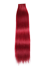 cheap -Tape In Human Hair Extensions Straight Human Hair Extensions Human Hair Women's