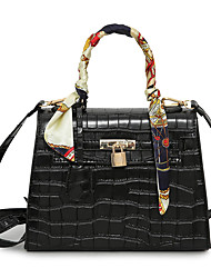 Women Bags All Seasons PU Tote with for Event/Party Casual Formal Office & Career Black Clover Black/White