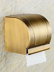 Toilet Paper Holder Antique Brass Wall Mounted 75 x 195mm (2.95 x 7.68) Brass Antique