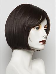 MAYSU prevalecente atraente bobo preto peruca de cabelo humano