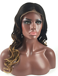 T1B/4/27 Honey Brown Strawbery Blonde Wig Natural Looking Glueless Lace Front Human Virgin Hair Ombre Curly Wigs For Black Woman