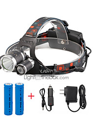 cheap -U'King Headlamps Headlight LED 2400 lm 4 Mode Cree XP-G R5 Cree XM-L T6 with Batteries and Chargers Compact Size Easy Carrying