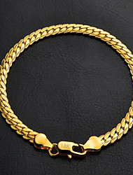 cheap -U7® High Quality 18K Chunky Gold Filled Twisted Figaro Link Chain Bracelet for Men Women  Christmas Gifts