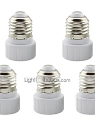 cheap -E27 to GU10 Adapter Converter Base Holder Socket for LED Light Lamp (5 Pieces)