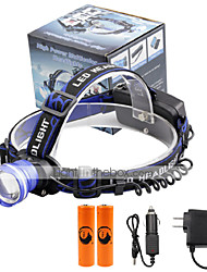 cheap -U'King Headlamps Headlight LED 2000 lm 3 Mode Cree XM-L T6 with Batteries and Chargers Zoomable Alarm Adjustable Focus Compact Size Easy