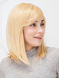 economico -parrucca di capelli umani naturali senza cappuccio dritto fresco biondo haircolor per le ragazze e le donne 2017