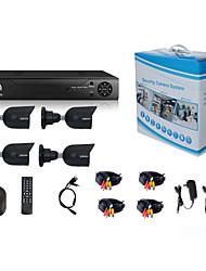 Недорогие -система безопасности jooan® 4 x 720p атмосферостойкая камера tvi и 1080n 8ch dvr рекордер поддерживают ahd / tvi / cvi / cvbs