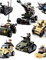baratos -Sluban Blocos de Construir Blocos Militares 928 pcs Militar Tanque Soldier Criativo Legal Clássico Chique & Moderno Desenho Para Meninos Para Meninas Brinquedos Dom