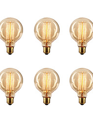 cheap -Ecolight™ 6pcs 40W E26 / E27 G80 2300k Incandescent Vintage Edison Light Bulb 220-240V
