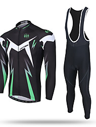 cheap -XINTOWN Cycling Jersey with Bib Tights Men's Long Sleeves Bike Bib Tights Pants / Trousers Tracksuit Zip Top Jersey Top Clothing Suits