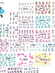 1set 48design Mixed Nail Art Sticker Beautiful Image Flower Vine Decoration Water Transfer Decals A433-480