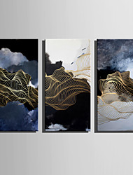 cheap -E-HOME Stretched Canvas Art Abstract Line Landscape Decoration Painting One Pcs