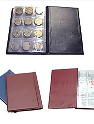 1Pcs 120 Coin Holders Collection Storage Money Penny Pockets Album Book Collecting   Random  Color