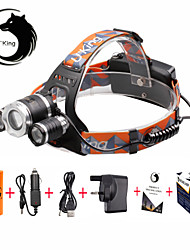 U'King Headlamps LED 6000 Lumens 3 4 Mode Cree XM-L T6 Yes Adjustable Focus Compact Size Easy Carrying High Power for