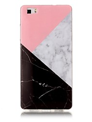 cheap -For Huawei P8 Lite P9 Lite Case Cover Marble High - Definition Pattern TPU Material IMD Technology Soft Package Mobile Phone Case