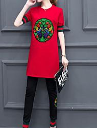T-shirt Pantalone Completi abbigliamento Da donna Per uscire Casual Sportivo Vintage Moda città sofisticato All Seasons Con molla,Con