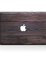 cheap -1 pc Skin Sticker for Scratch Proof Wood Grain Pattern PVC MacBook Pro 15'' with Retina MacBook Pro 15'' MacBook Pro 13'' with Retina