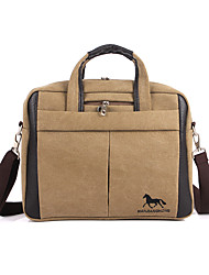 Unisex Bags All Seasons Canvas Laptop Bag for Casual Sports Outdoor Office & Career Professioanl Use Black Coffee Khaki