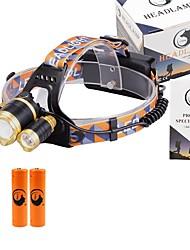 U'King Torce frontali Faro anteriore LED 6000 lm 3 4.0 Modo Cree XM-L T6 pile incluse Zoom disponibile Messa a fuoco regolabile Compatta