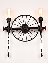 Vintage Industrial Pipe Wall Lights Creative Lights Restaurant Cafe Bar Decoration lighting With 2 Light Painted Finish