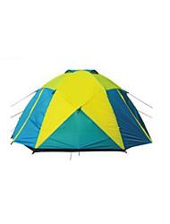 5-8 persone Tenda Doppio Tenda da campeggio Una camera Tende da campeggio formato famiglia Ompermeabile Antivento Anti-pioggia