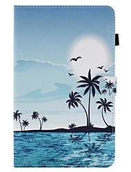 Недорогие -Кейс для Назначение SSamsung Galaxy / Вкладка 8,0 / Вкладка 9,7 Tab E 9.6 / Tab E 8.0 / Tab A 10.1 (2016) Бумажник для карт / со стендом / Флип Чехол Пейзаж Твердый Кожа PU