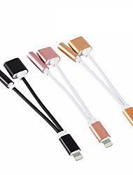 New 2 in 1 Headphone Audio Jack Adapter Cable for iPhone 7 7Plus 8 Pin to 3.5mm Earphone Cable