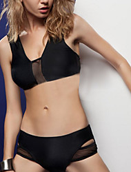 billige Badedrakter og bikinier-Dame Bikinikjole - Klassisk Stil Sexy, Underbukser Ensfarget