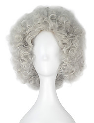 Beauty and the Beast Cadenza Men Adult Short Curly Silver Grey Color Movie Cosplay Costume Party Full Wig