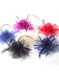 cheap -Tulle Net Flowers Hair Clip Headpiece Classical Feminine Style