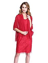 cheap -Chiffon Wedding Party Evening Women's Wrap Shawls