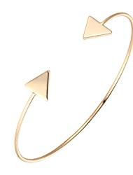 Bohemian Rhinestone Cuff Bracelets Gold Plated Triangle Bracelet Fashionable Geometric Alloy Jewellery