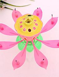 Недорогие -музыкальные лотосовые цветочные свечи с днем рождения свеча для украшения праздничных вечеринок