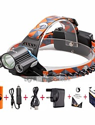 cheap -U'King Headlamps Headlight LED 3000 lm 4 Mode Cree XM-L T6 with Batteries and Charger Mini Easy Carrying Camping/Hiking/Caving Everyday