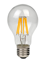 cheap -1pc 8W 700-750lm lm E27 LED Filament Bulbs A60(A19) 8pcs leds COB Warm White Cold White 220-240V