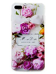 Für Muster Hülle Rückseitenabdeckung Hülle Blume Weich TPU für Apple iPhone 7 plus iPhone 7