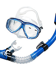 cheap -Swim Mask Goggle Snorkels Diving Mask Snorkeling Packages Dry Top Diving Silicone Glass - SBART