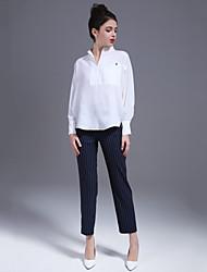 Недорогие -Жен. Рубашка Брюки Однотонный