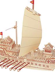 Недорогие -Пазлы Деревянные пазлы Строительные блоки Игрушки своими руками Знаменитое здание Китайская архитектура Корабль 1 Дерево Со стразами