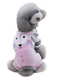 preiswerte -Hund T-shirt Overall Hundekleidung Niedlich Sport Karton Grün Rosa Kostüm Für Haustiere