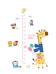 Wall Stickers Wall Decals Style Cute Giraffe Measure Your Height PVC Wall Stickers