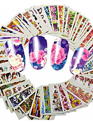 cheap -1set 48pcs Mixed Lovely Cartoon& Beautiful Flower Nail Art Sticker Water Transfer Decals Nail Beauty Tips A145-192